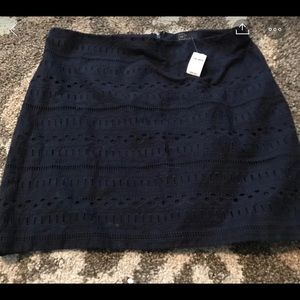Gap navy blue skirt